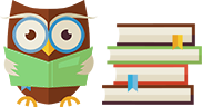 Owl and Books Icon
